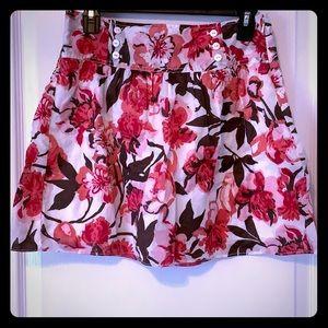 Loft flower print skirt